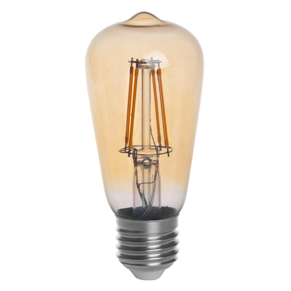 T10 E26 E27 4w Led Vintage Antique Filament Light Bulb: Gold Tint ST15 E26/E27 4W LED Vintage Antique Filament